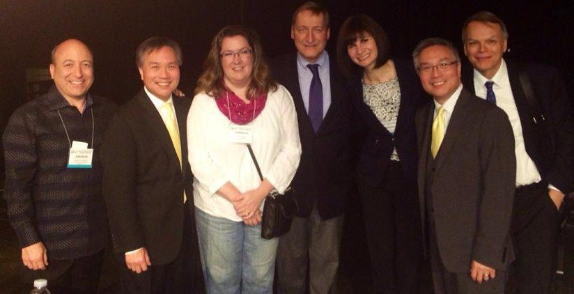 With Andrew Cooperstock, Alan and Alvin Chow, Doug Humpherys, Bob Shannon and Jennifer Hayghe